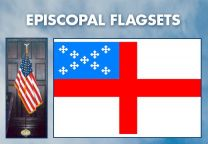 Indoor - Religious - Episcopal Complete Indoor Flag Set - 9ft