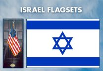 Indoor - Religious - Israel Complete Indoor Flag Set - 8ft
