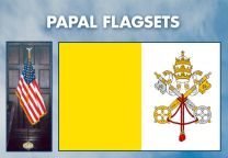 Indoor - Religious - Papal Complete Indoor Flag Set - 9ft