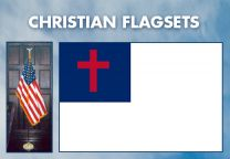 Indoor - Religious - Christian Complete Indoor Flag Set - 9ft